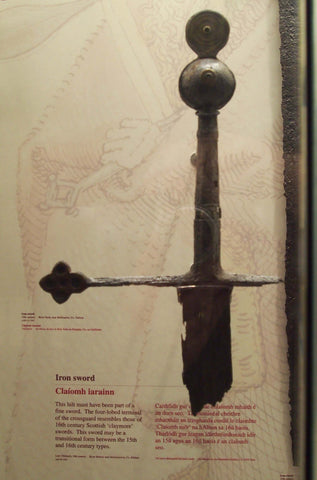 Proto-Claymore style sword in National Museum of Archeology Dublin
