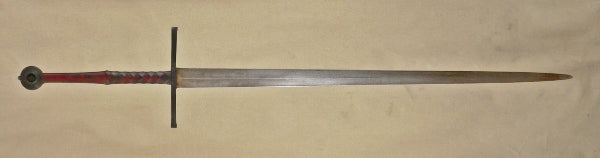 Two handed sword with rustic finish