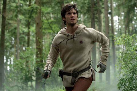 Ben Barnes on the run with the Schloss Erbach Sword.