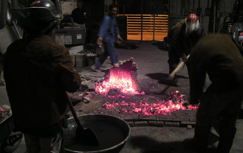 Bloom extraction from tatara furnace UofM 2004