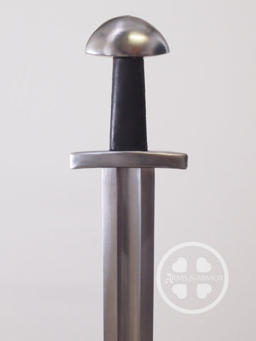 Viking Training Sword #252 black grip and peened steel hilt.