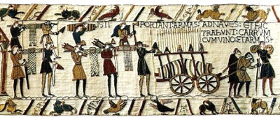 Weapons carriers on the Bayeux Tapestry