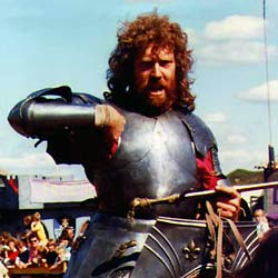 Christopher Poor jousting in 1987
