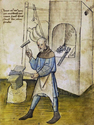 smith at forge mid 15thC