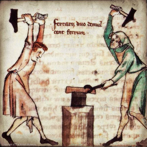 Smith's at work from a medieval illustration