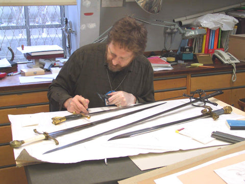 Chris Poor researching at the Wallace Collection
