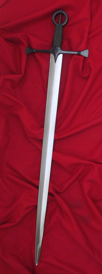 Irish Sword #085 ring hilt full length.