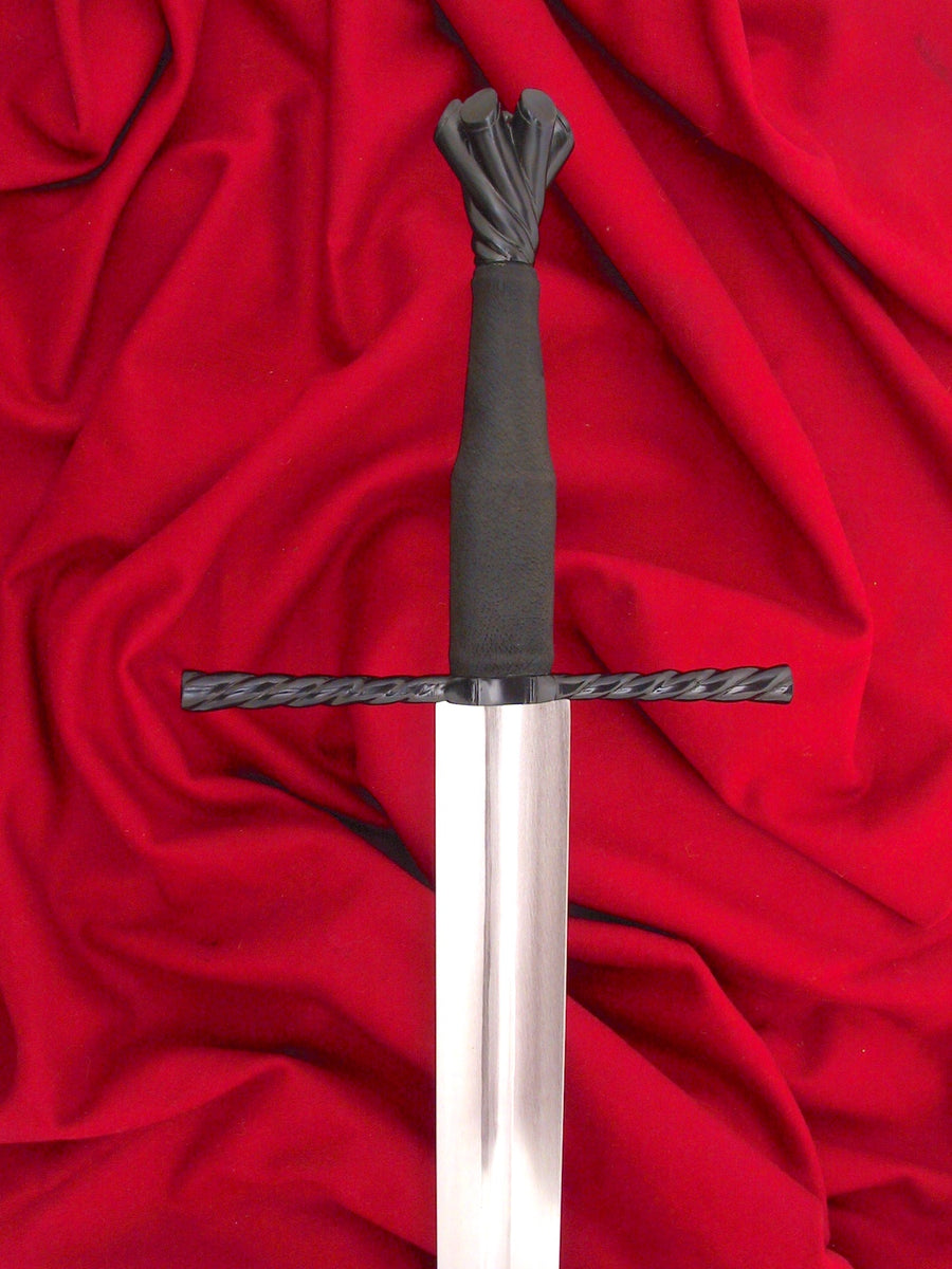 Blued 15th Century longsword of type XVIa an excellent cutting sword.