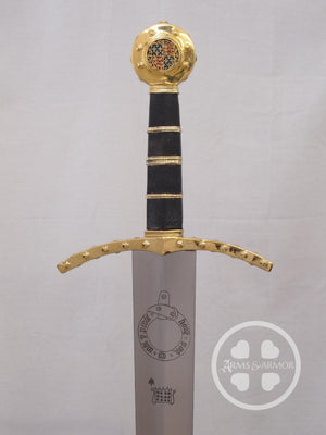 Edward III Sword - Oakeshott Type XVIIIa - Gold Plated