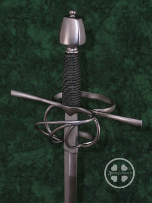 Training Rapier #219 with narrow nail blade, wire grip and steel hilt.
