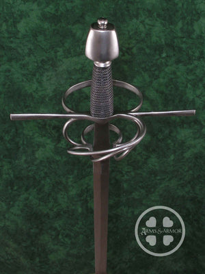 Training Rapier with narrow nail blade #219 hand built steel hilt