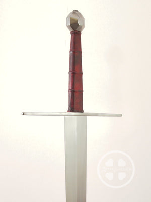 Type XVIIIc longsword with red grip and a octagonal pommel of wheel form #UI003.