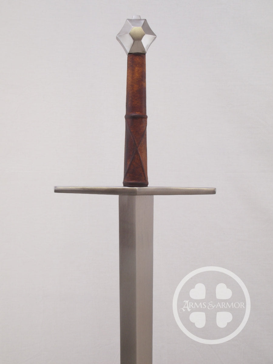 13th C Hex Pommeled Sword of War