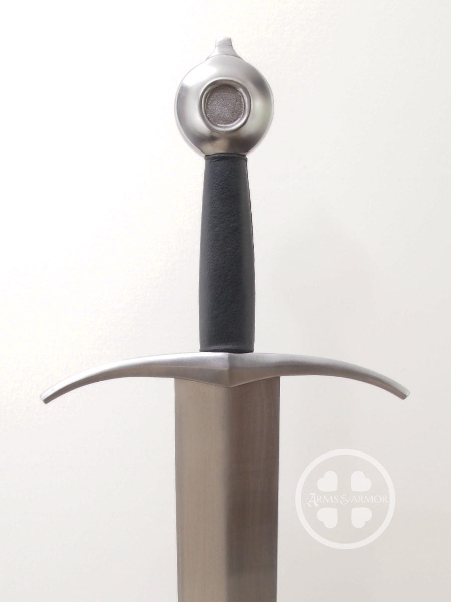 French medieval Oakeshott Type XV arming sword #188 Steel hilt with black leather.