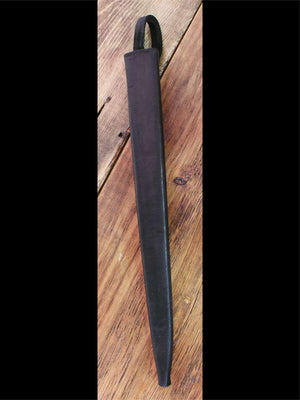#119 Parrying Dagger Leather scabbard in black.