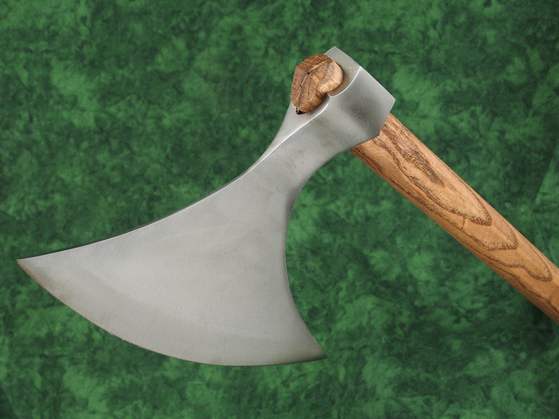 11th Century war axe with 10 plus inch cutting edge.