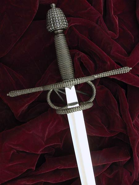 Milanese Rapier #162 late 16th century Italian rapier with checkered detail finished in black oxide.