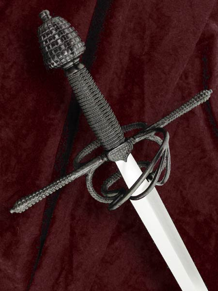 Milanese Rapier #162 late 16th century Italian rapier back view..