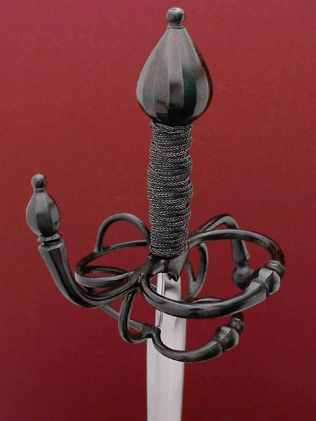 Interior guard on Cavalier Rapier 17th century English sword.