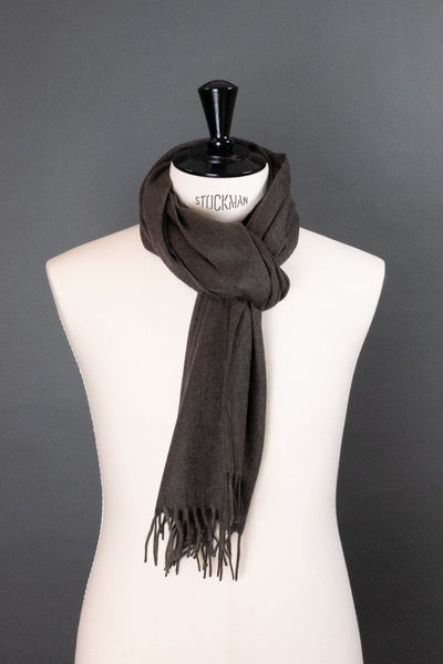 Brown Flannel Cashmere Scarf