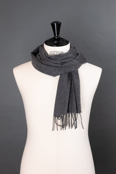 Flannel Cashmere Scarf - Dark Gray