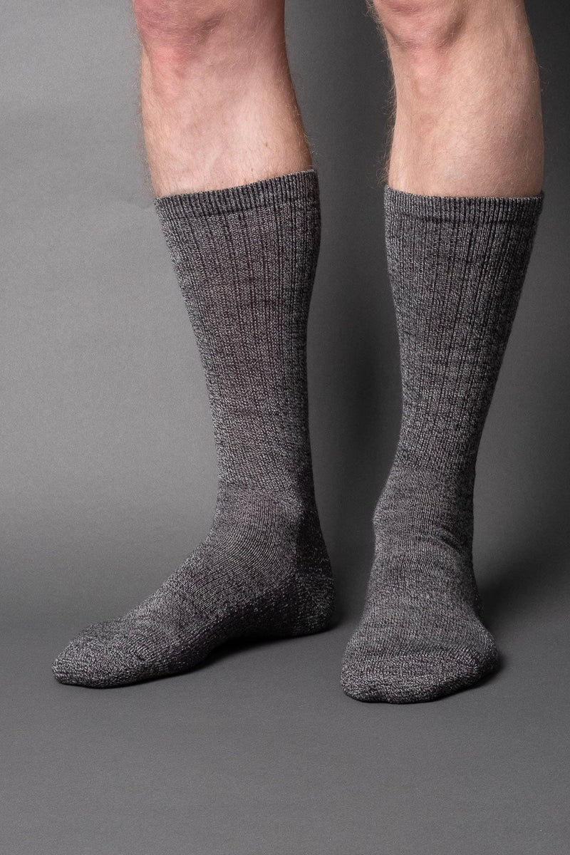 Casual boot sock-wool-Dark gray melange - once a day-glenn clyde
