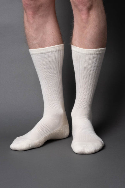 Casual boot sock-wool-cream white - once a day-glenn clyde