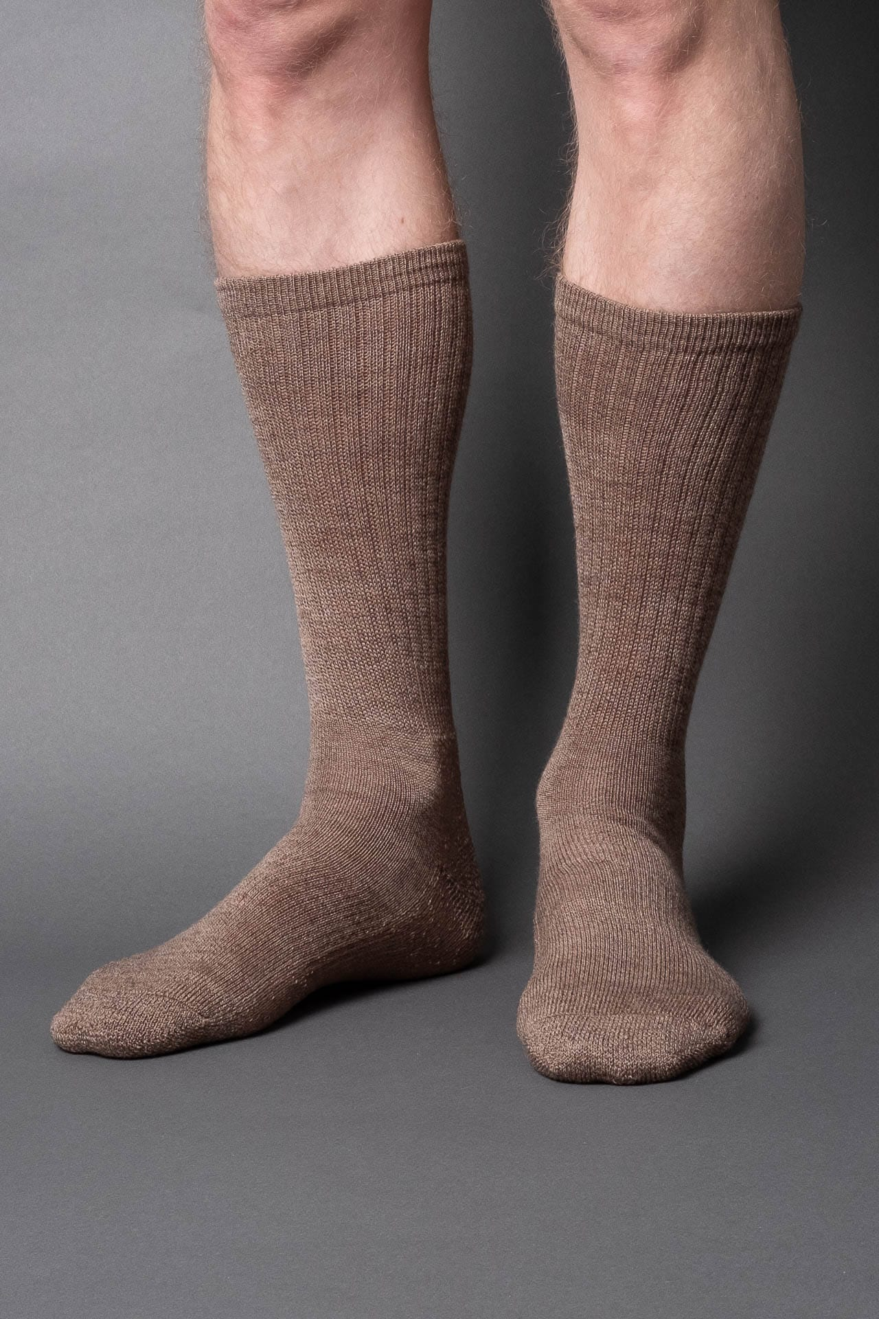 Casual boot sock-wool-Brown melange - once a day-glenn clyde
