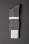 Casual boot sock-wool-Light gray melange - once a day-glenn clyde