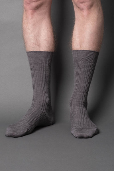 once a day-wool-dress-socks-colors-made-in-japan-premium-light-gray-melange