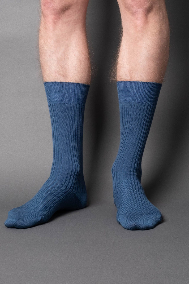 once a day-wool-dress-socks-colors-made-in-japan-premium-ocean-blue