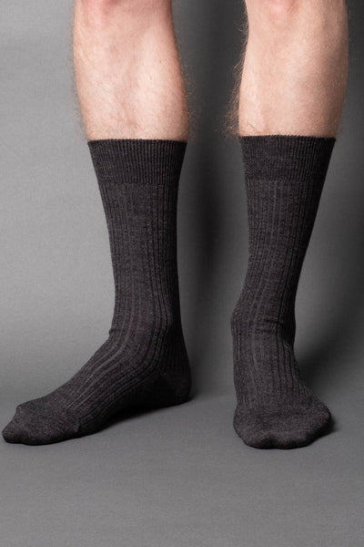 once a day-wool-dress-socks-colors-made-in-japan-premium-dark-gray-melange