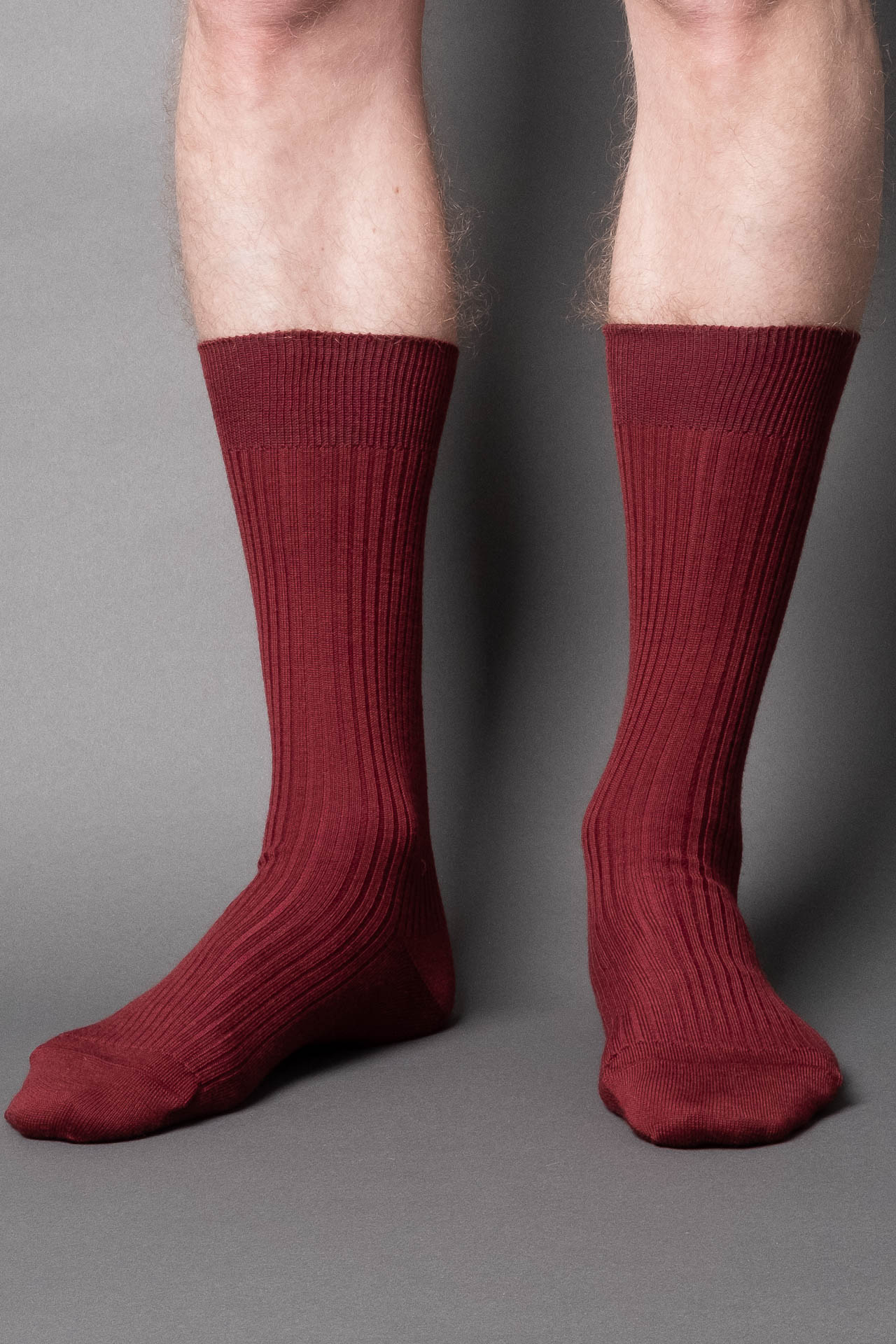 once a day-wool-dress-socks-colors-made-in-japan-premium-burgundy-red