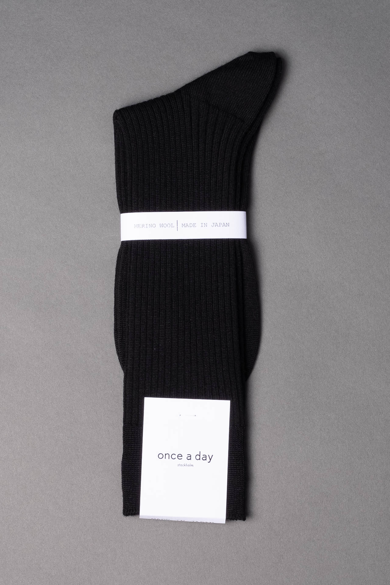 once a day-wool-dress-socks-colors-made-in-japan-premium-black