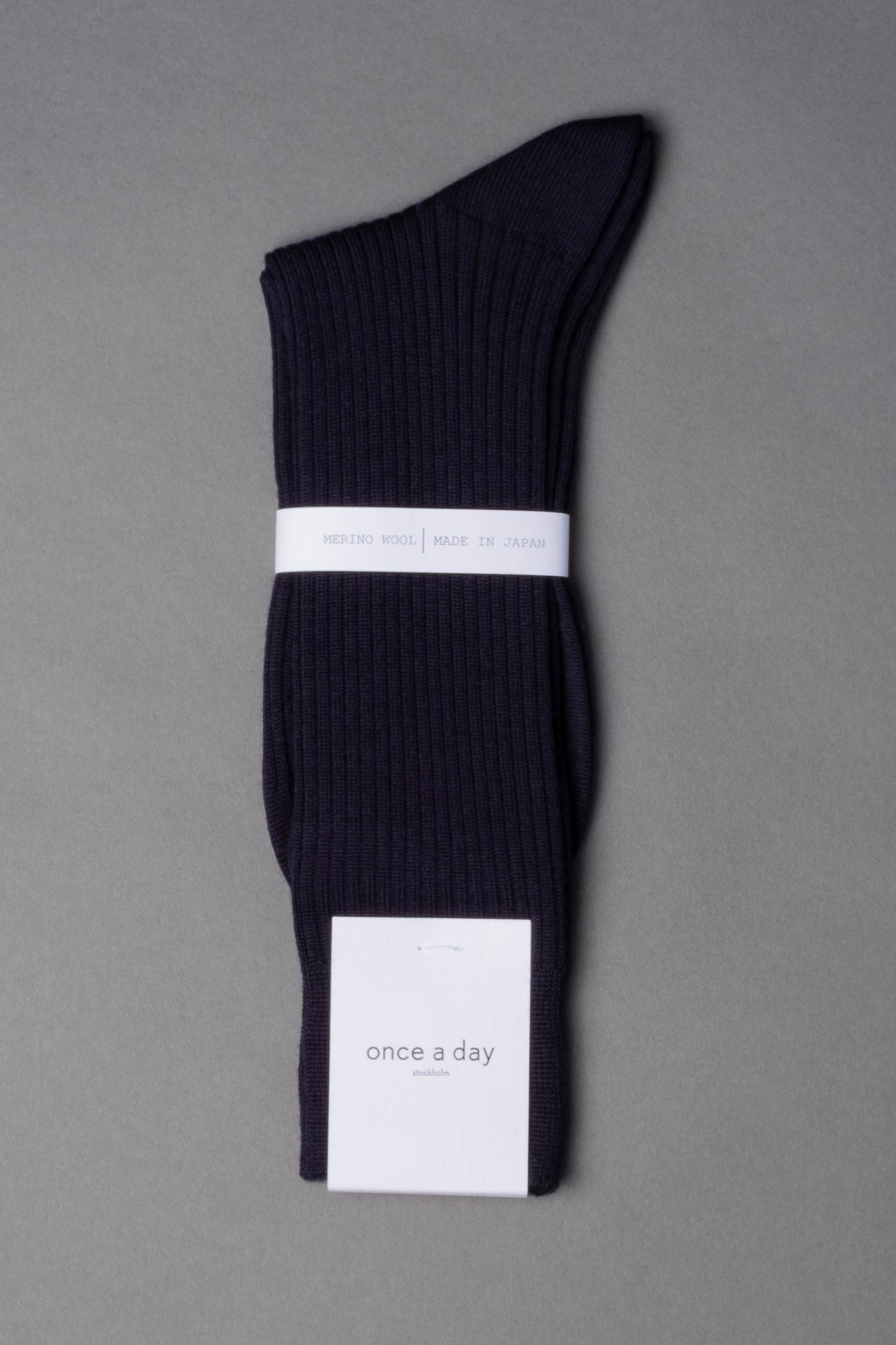 once a day-wool-dress-socks-colors-made-in-japan-premium-navy-blue