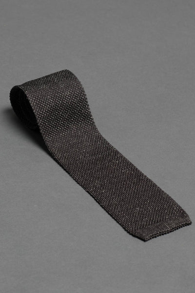 gray-melange-silk-linnen-knitted-tie-with-square-tip-made-in-italy