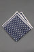 navy-blue-and-white-dots-silk-knitted-pocket-square-with-white frame-made-in-italy