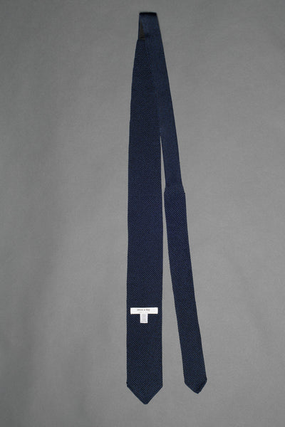 navy-blue-melange-knitted-silk-tie-with-pointed-tip-made-in-italy
