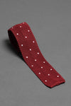 silk-knitted-tie-with-square-tip-red-with-polka-dots-made-in-italy
