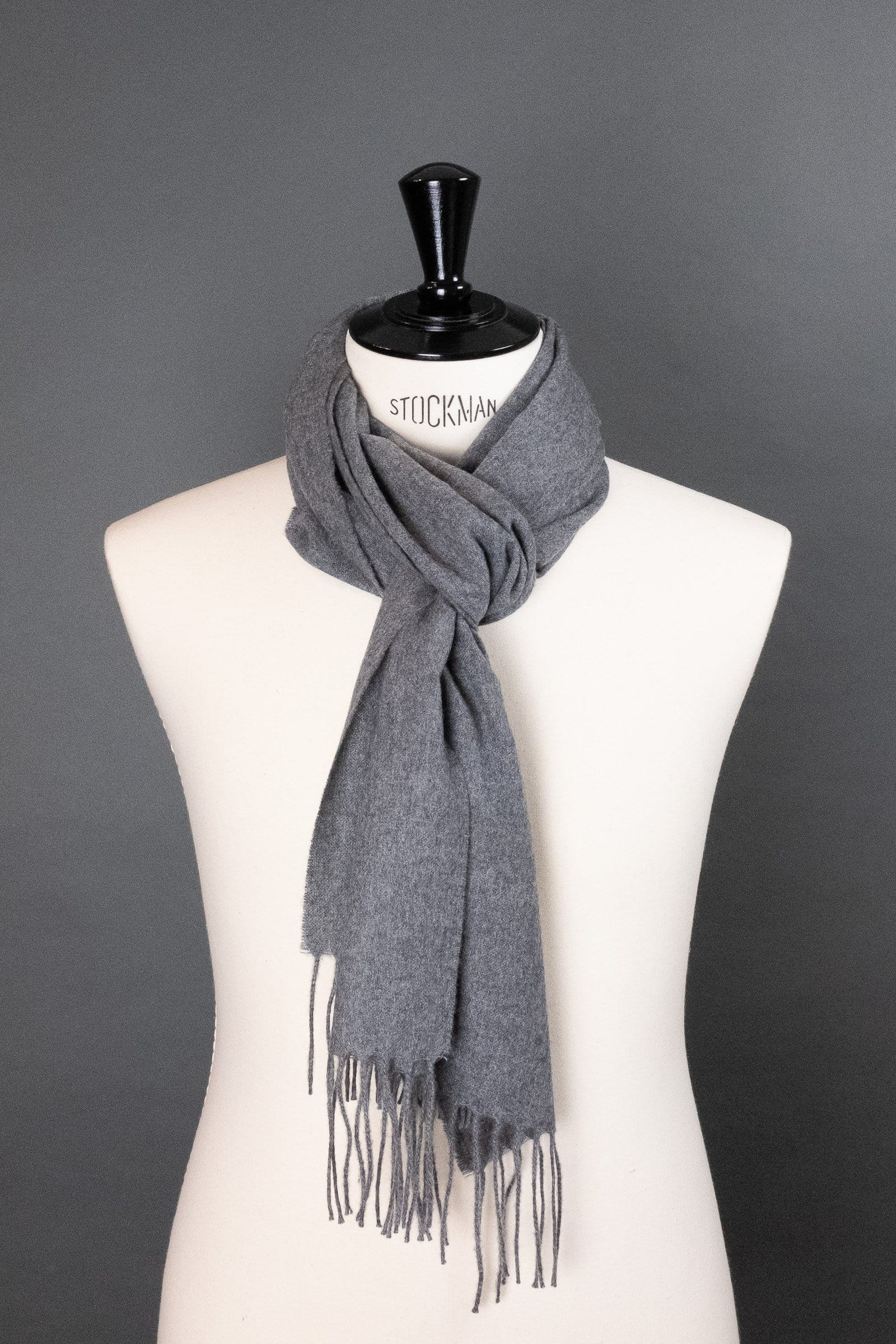 Flannel Cashmere Scarf - Medium Gray