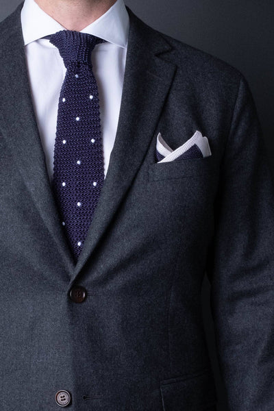 silk-knitted-tie-with-square-tip-navy-blue-with-polka-dots-made-in-italy-combo-matching-pocket-square