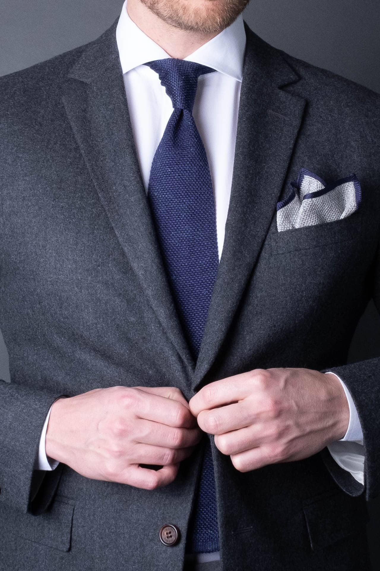 7. Silk Linen - Pocket Square