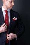 silk-knitted-tie-with-square-tip-red-with-polka-dots-made-in-italy-combo-matching-pocket-square