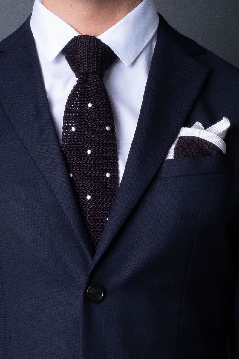 silk-knitted-tie-with-square-tip-black-with-polka-dots-made-in-italy