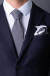 cotton-knitted-pocket-square-gray-with-white-frame-and-dots-made-in-italy-combo-matching-tie