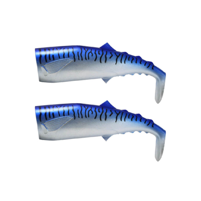 FishLab Soft Mack Attack Swimbait Replacement Tails Blue Mackerel