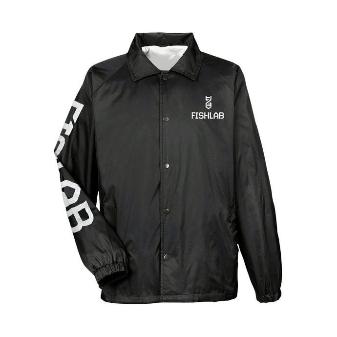 FishLab Button Up Wind Breaker Black