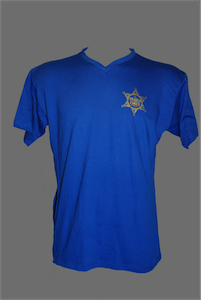 Blue t-shirt with Sheriff Logo