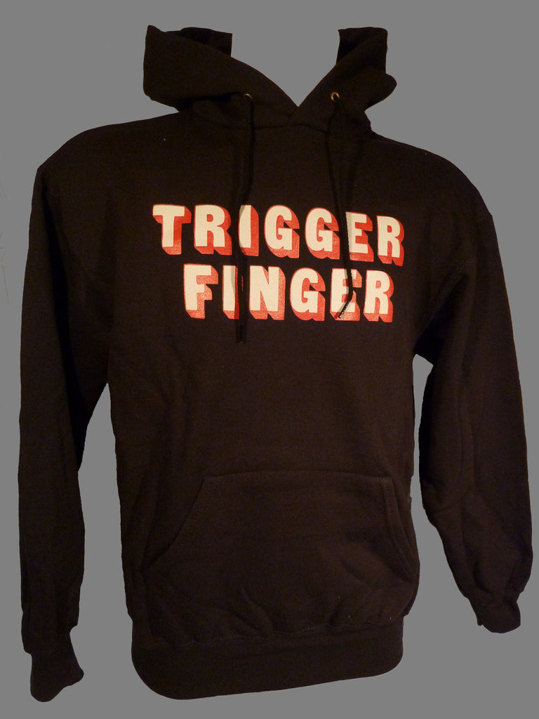Black Hoodie with Triggerfinger Letters