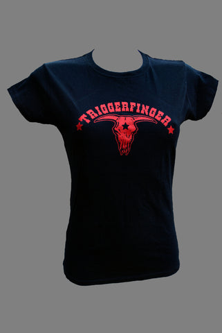 Black Ladies T-Shirt With Classic Red Bull Logo